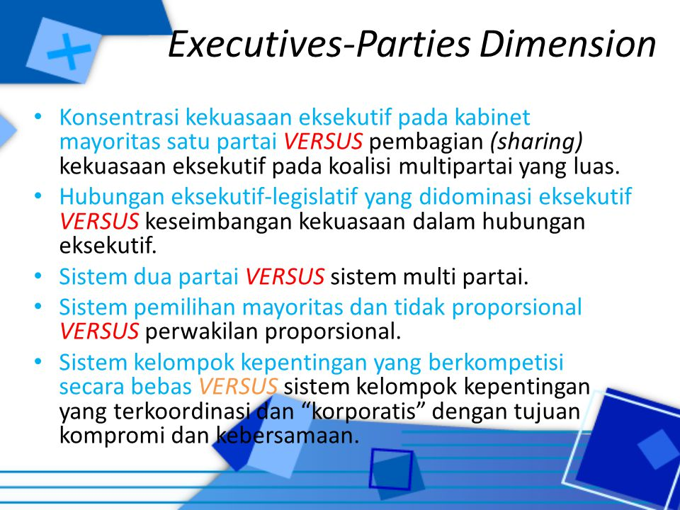 Executives-Parties Dimension