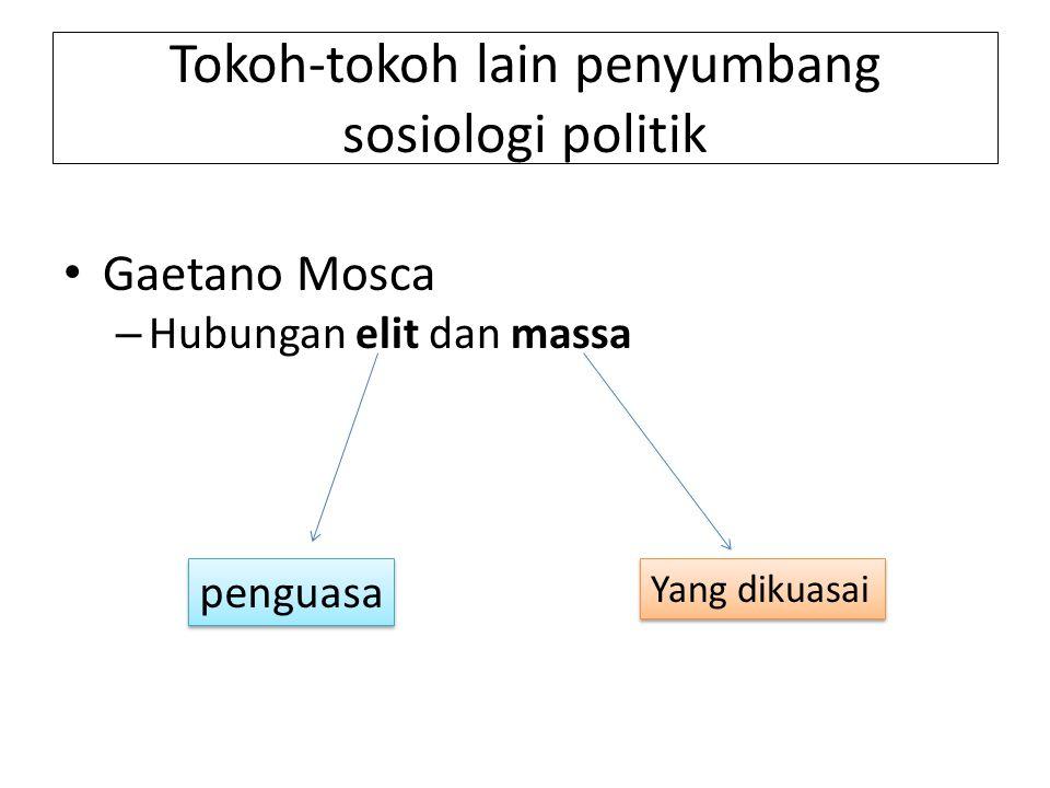 Tokoh-tokoh lain penyumbang sosiologi politik
