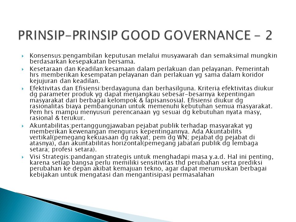 PRINSIP-PRINSIP GOOD GOVERNANCE - 2