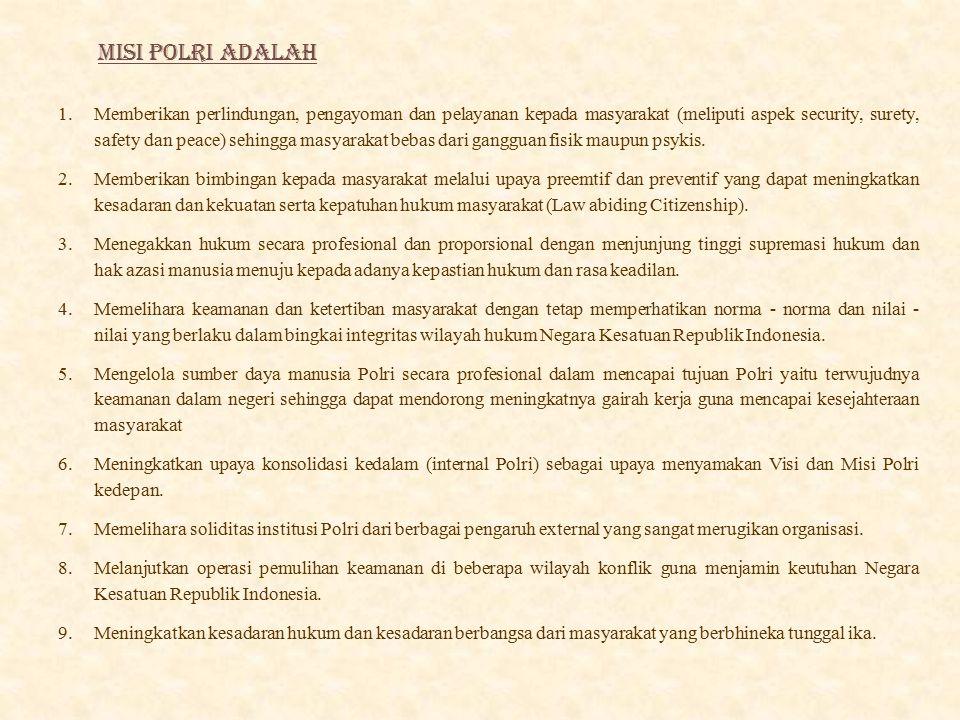 MISI POLRI ADALAH