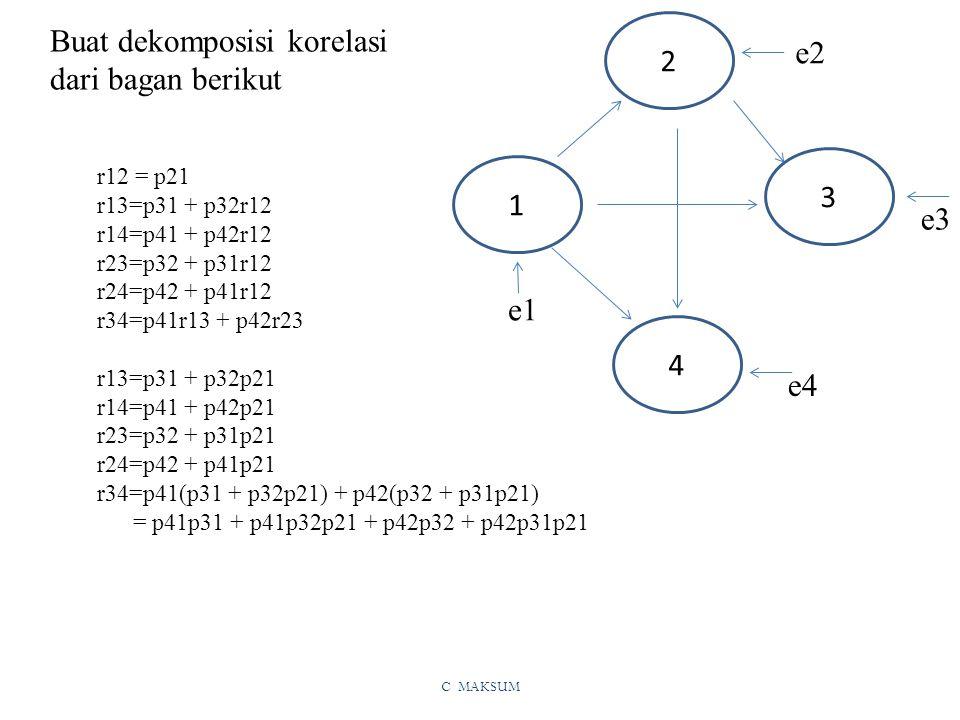 Buat dekomposisi korelasi dari bagan berikut 2 e2