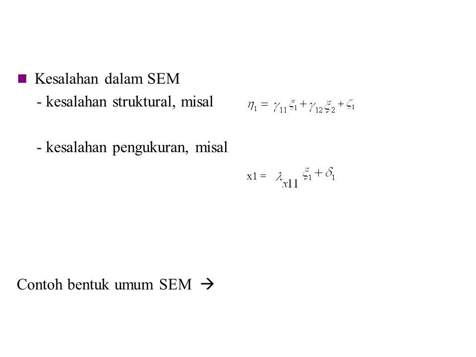 - kesalahan struktural, misal - kesalahan pengukuran, misal