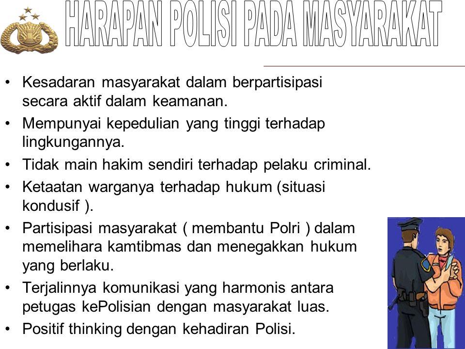HARAPAN POLISI PADA MASYARAKAT