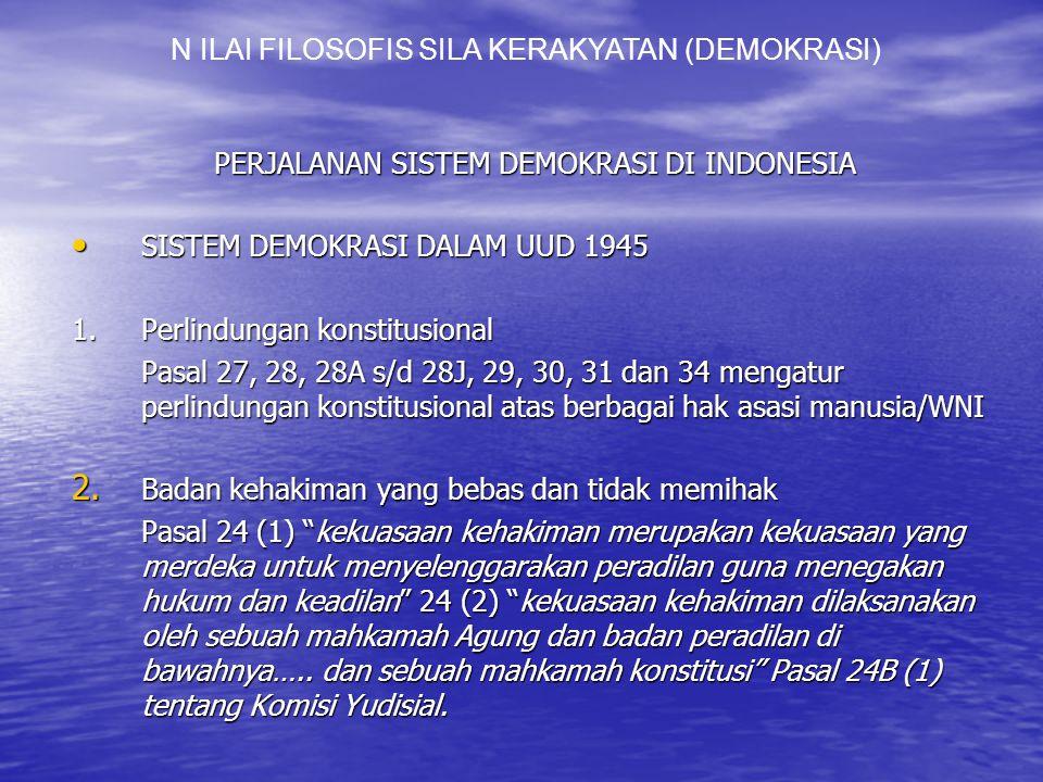 N ILAI FILOSOFIS SILA KERAKYATAN (DEMOKRASI)