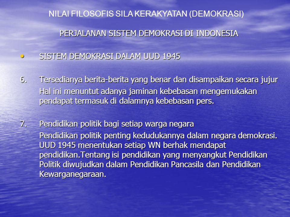 NILAI FILOSOFIS SILA KERAKYATAN (DEMOKRASI)