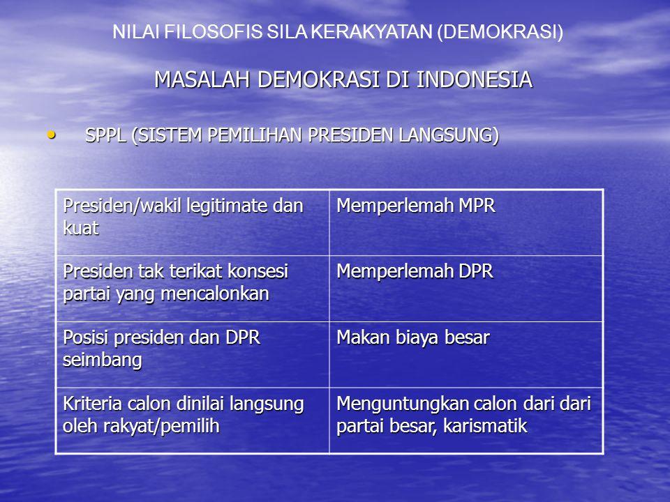 MASALAH DEMOKRASI DI INDONESIA