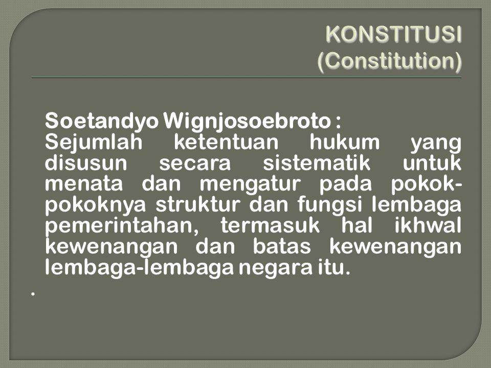 KONSTITUSI (Constitution)