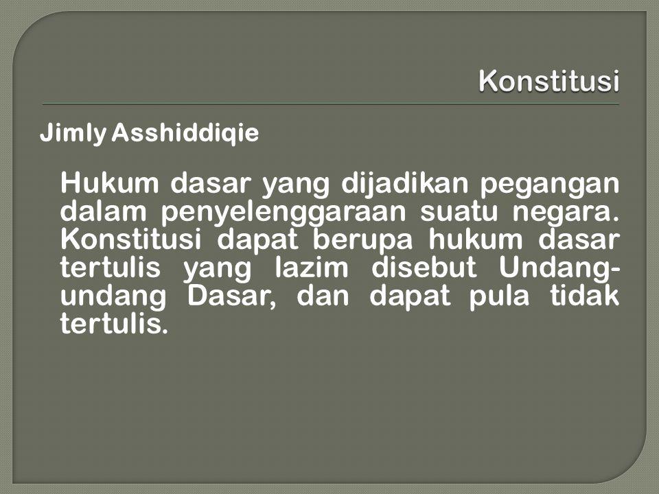 Konstitusi Jimly Asshiddiqie.