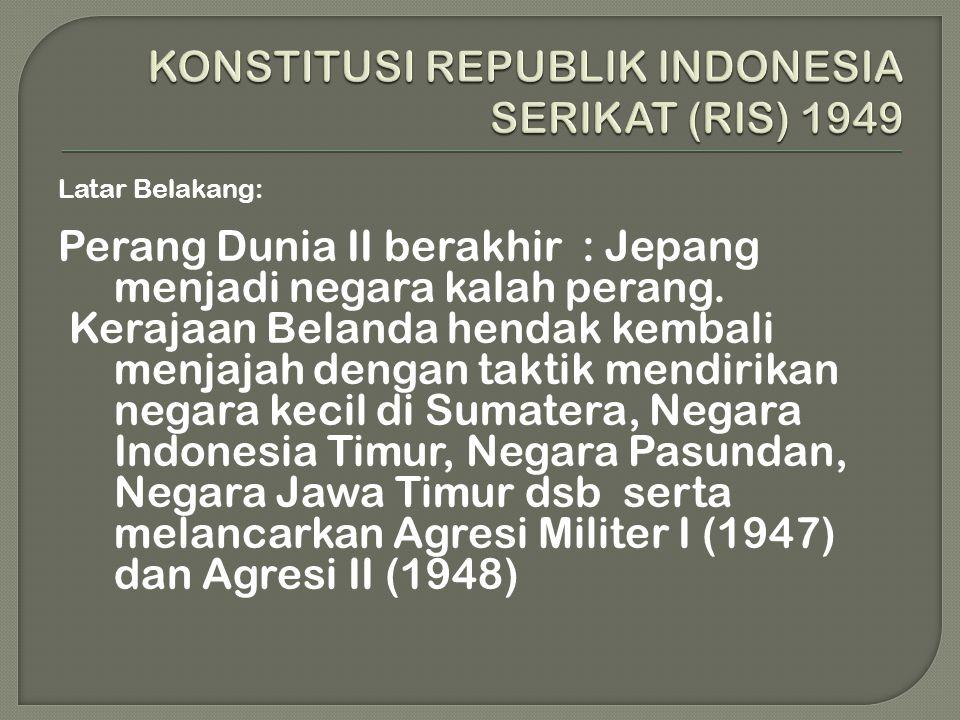 KONSTITUSI REPUBLIK INDONESIA SERIKAT (RIS) 1949