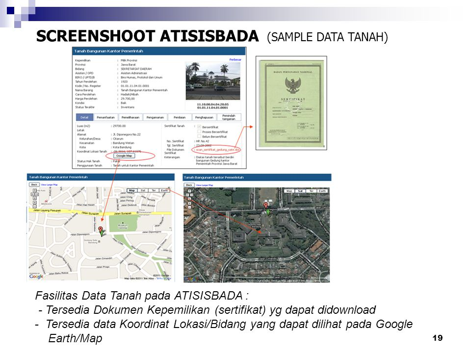 SCREENSHOOT ATISISBADA (SAMPLE DATA TANAH)
