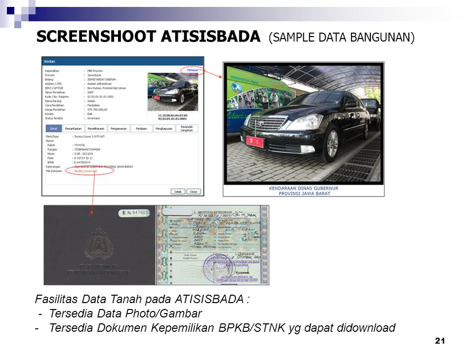 SCREENSHOOT ATISISBADA (SAMPLE DATA BANGUNAN)