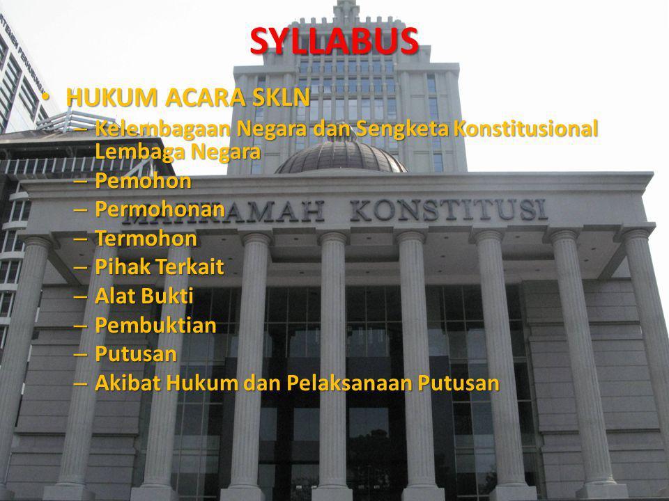 SYLLABUS HUKUM ACARA SKLN