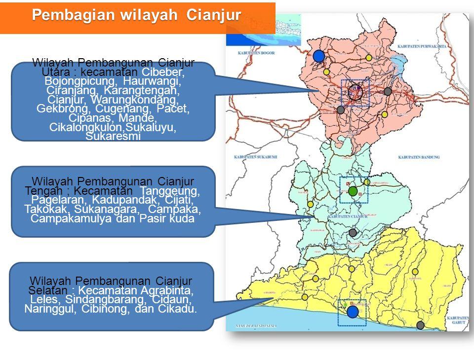 Pembagian wilayah Cianjur