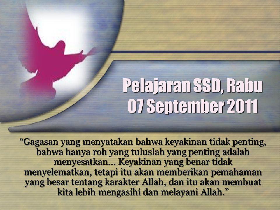Pelajaran SSD, Rabu 07 September 2011