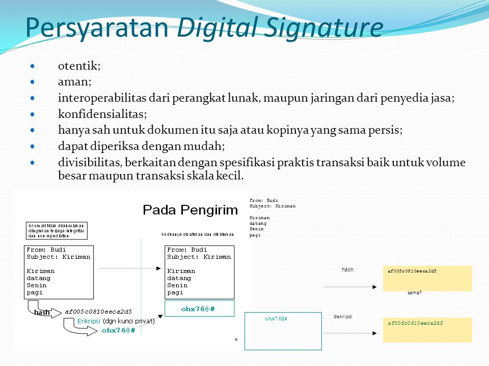 Persyaratan Digital Signature