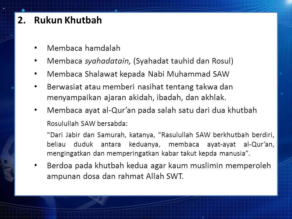 Rukun Khutbah Membaca hamdalah