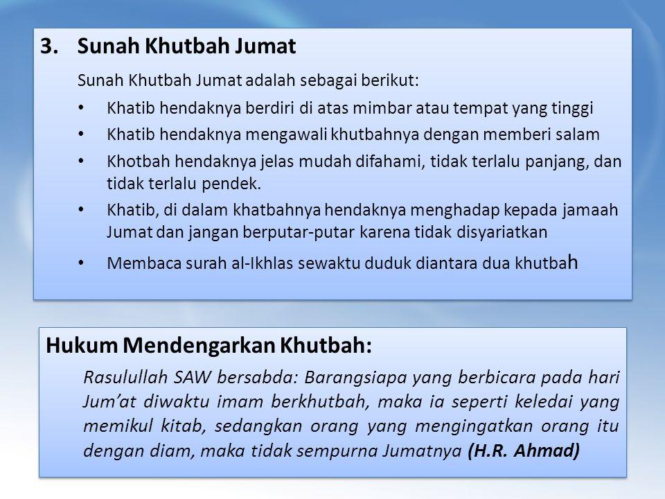 Hukum Mendengarkan Khutbah: