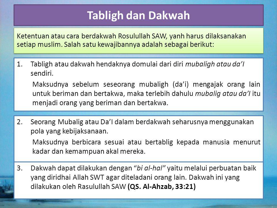 Tabligh dan Dakwah