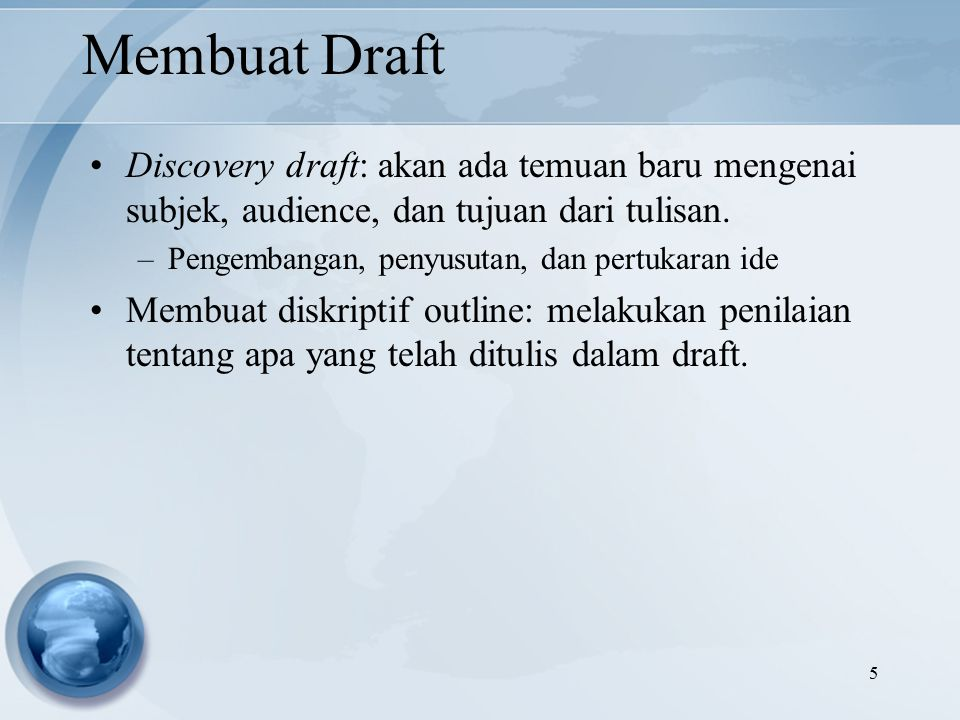 discovery draft