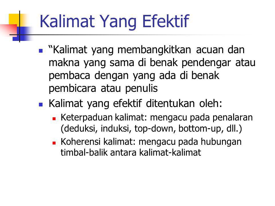 Kalimat Yang Efektif