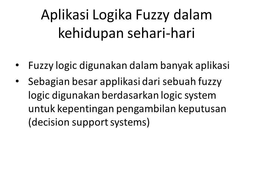 Aplikasi Logika Fuzzy dalam kehidupan sehari-hari