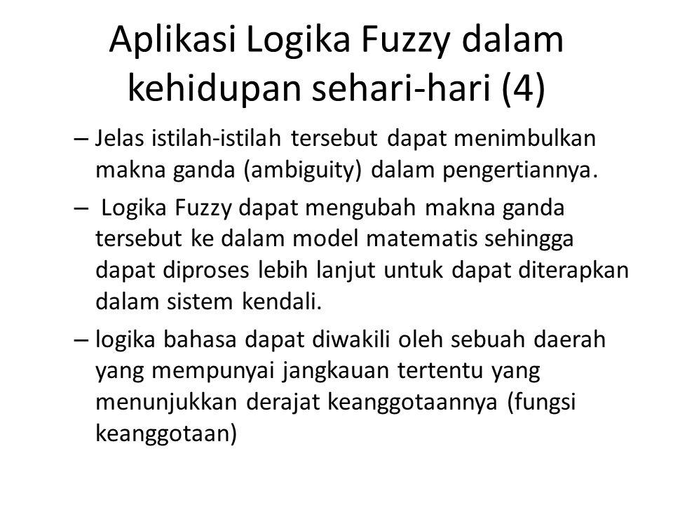 Aplikasi Logika Fuzzy dalam kehidupan sehari-hari (4)