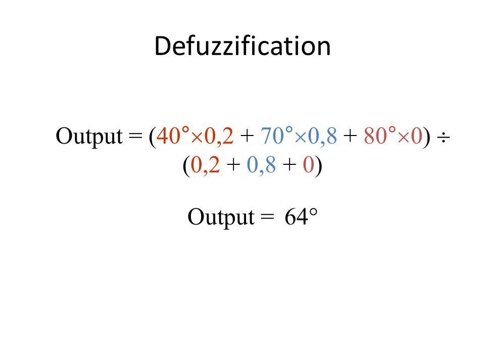 Output = (40°0,2 + 70°0,8 + 80°0)  (0,2 + 0,8 + 0)