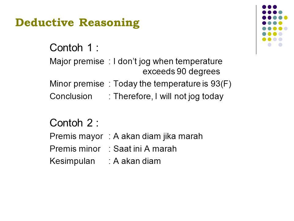 Deductive Reasoning Contoh 1 : Contoh 2 :