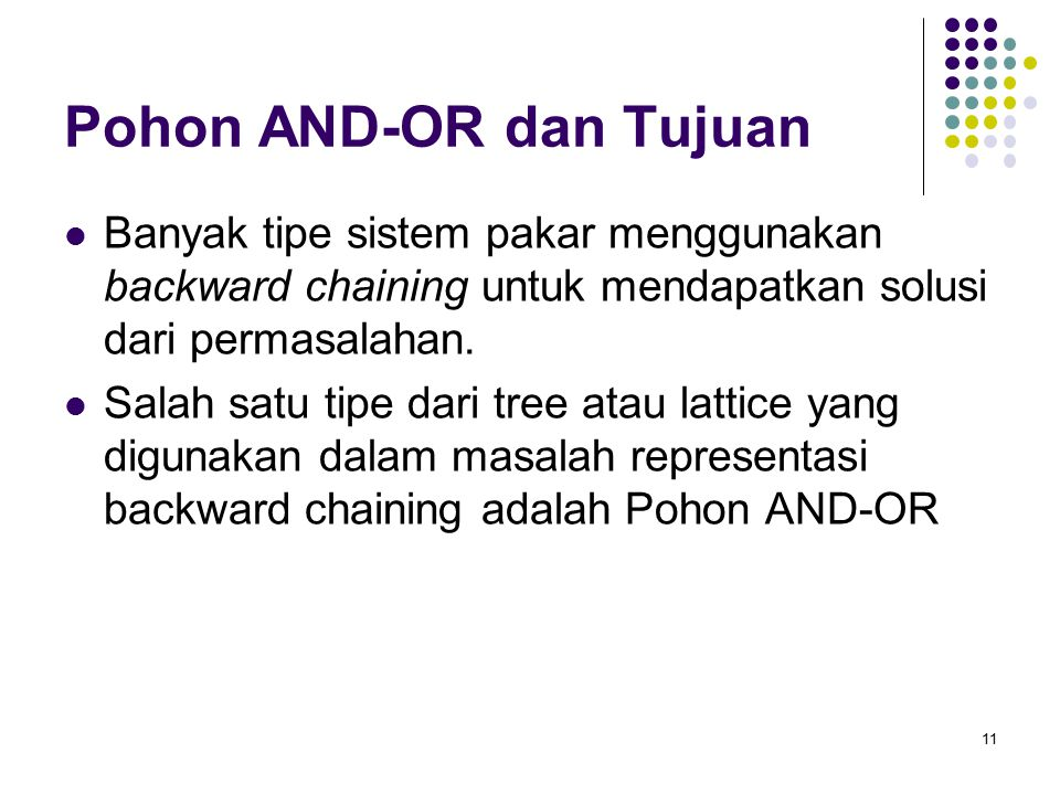 Pohon AND-OR dan Tujuan