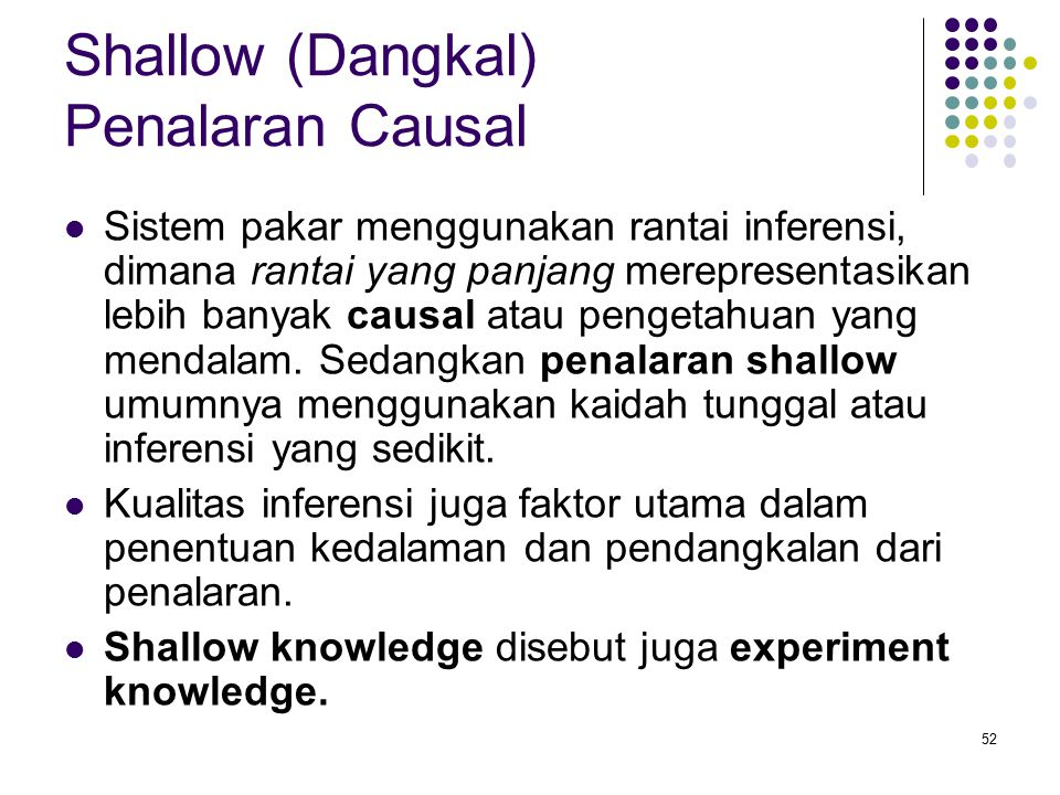 Shallow (Dangkal) Penalaran Causal