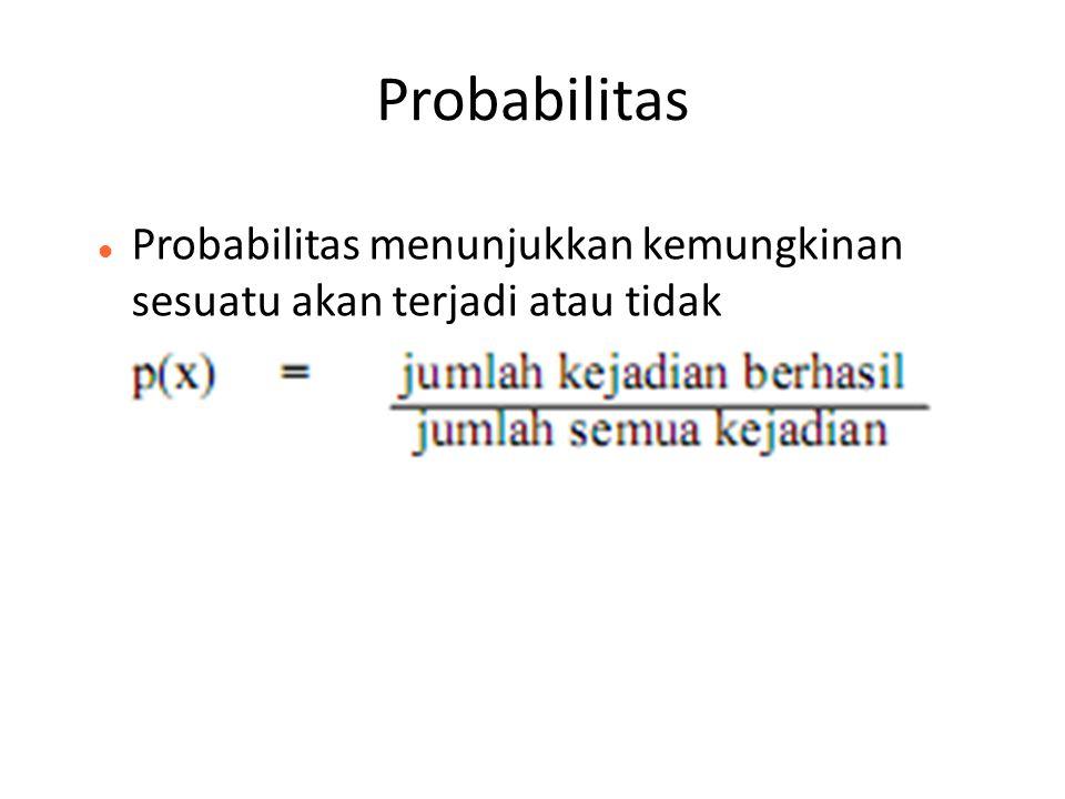 Probabilitas Probabilitas menunjukkan kemungkinan sesuatu akan terjadi atau tidak 27