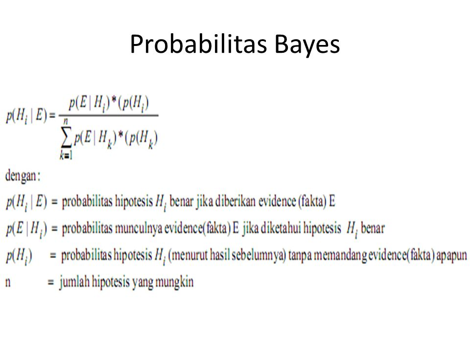 Probabilitas Bayes 29