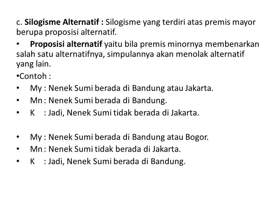 My : Nenek Sumi berada di Bandung atau Jakarta.