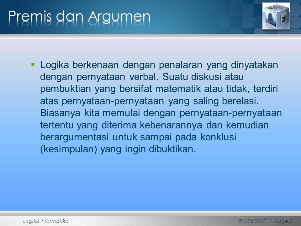 Premis dan Argumen