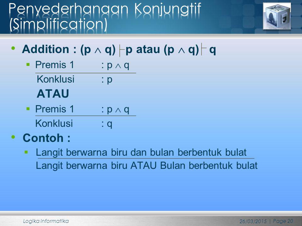 Penyederhanaan Konjungtif (Simplification)