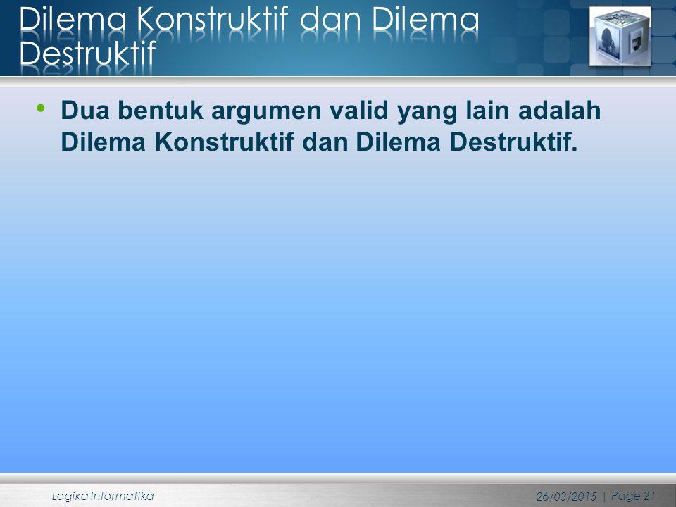 Dilema Konstruktif dan Dilema Destruktif