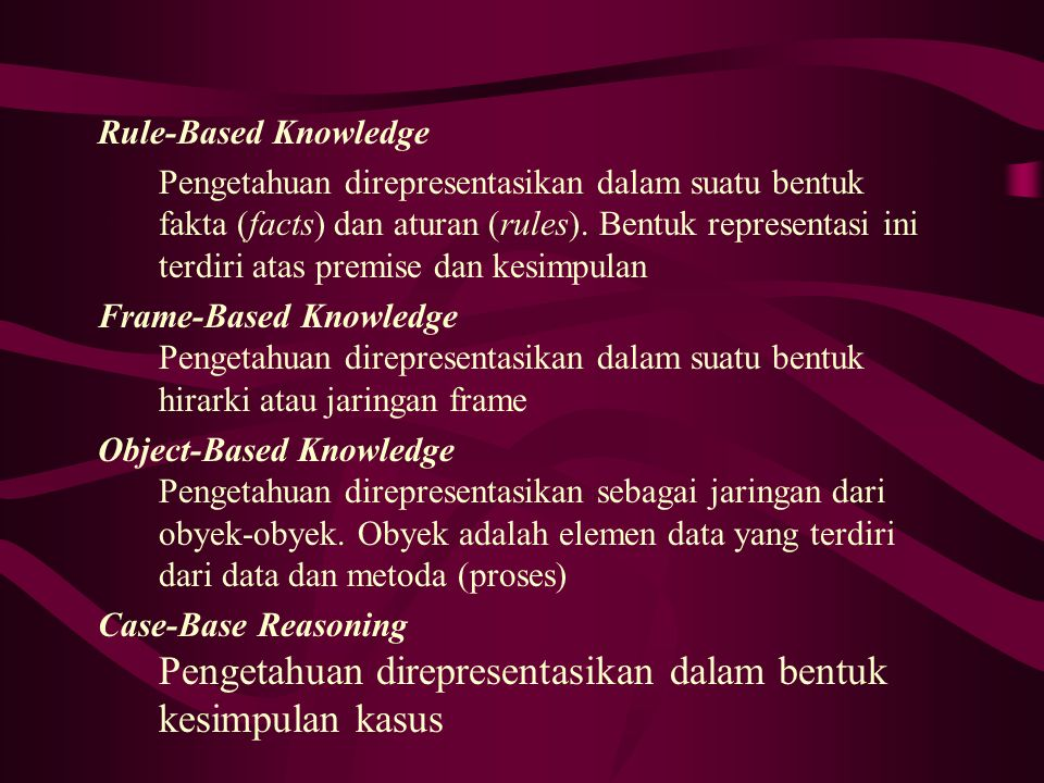 Rule-Based Knowledge