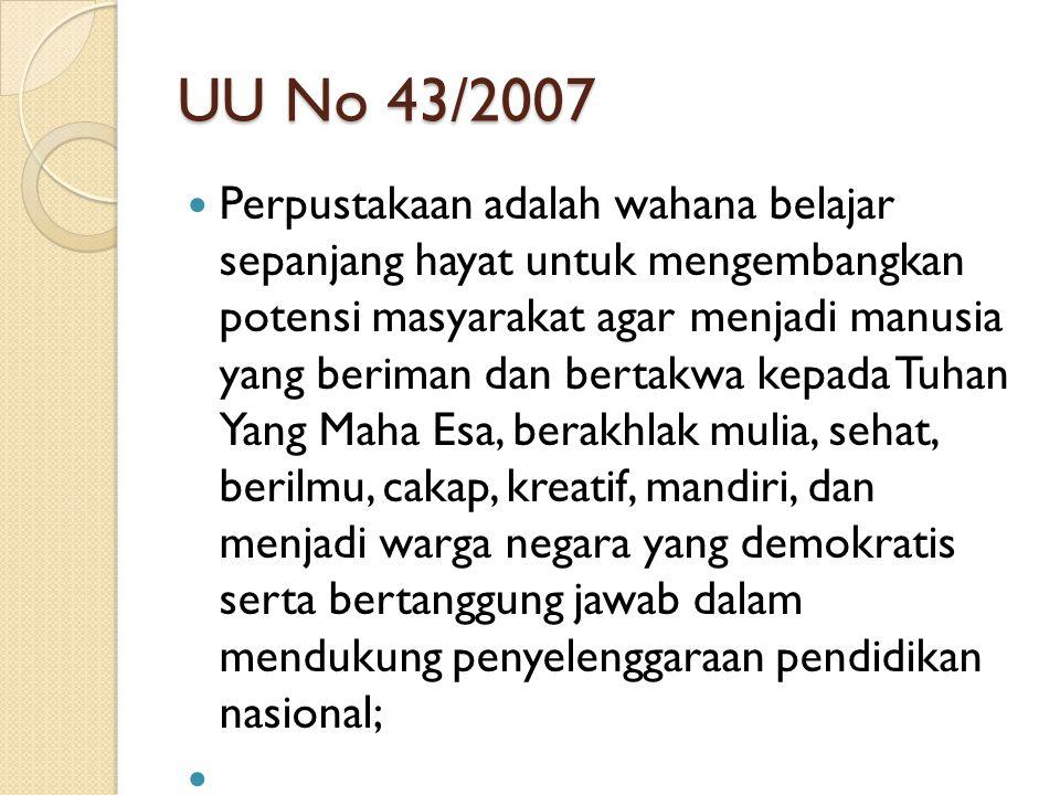 UU No 43/2007