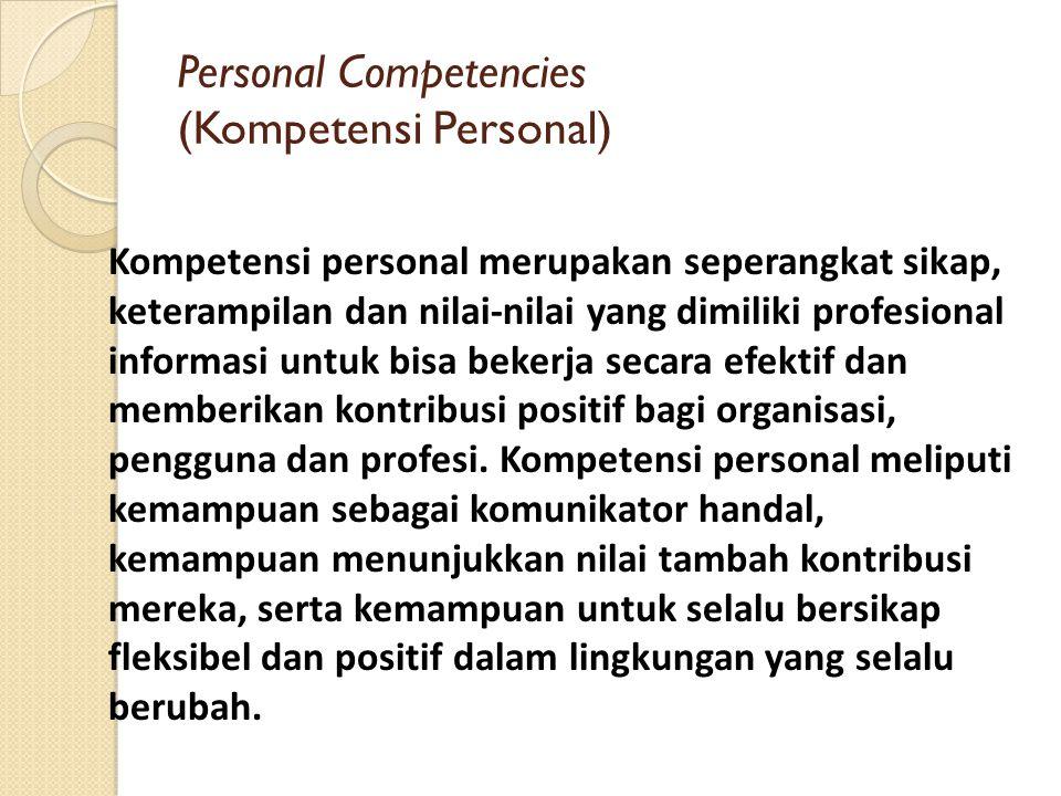 Personal Competencies (Kompetensi Personal)