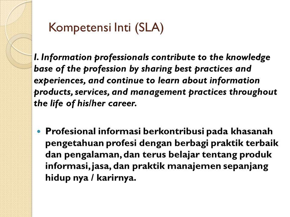 Kompetensi Inti (SLA)