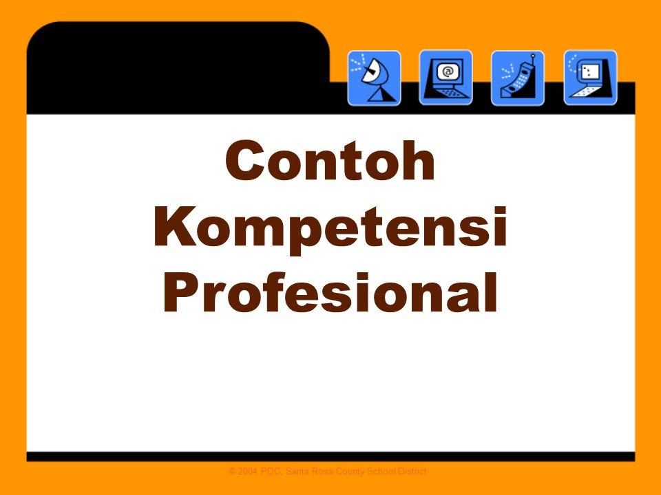 Contoh Kompetensi Profesional