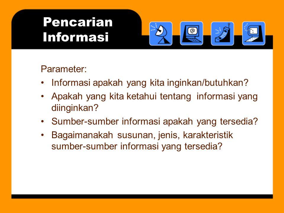 Pencarian Informasi Parameter:
