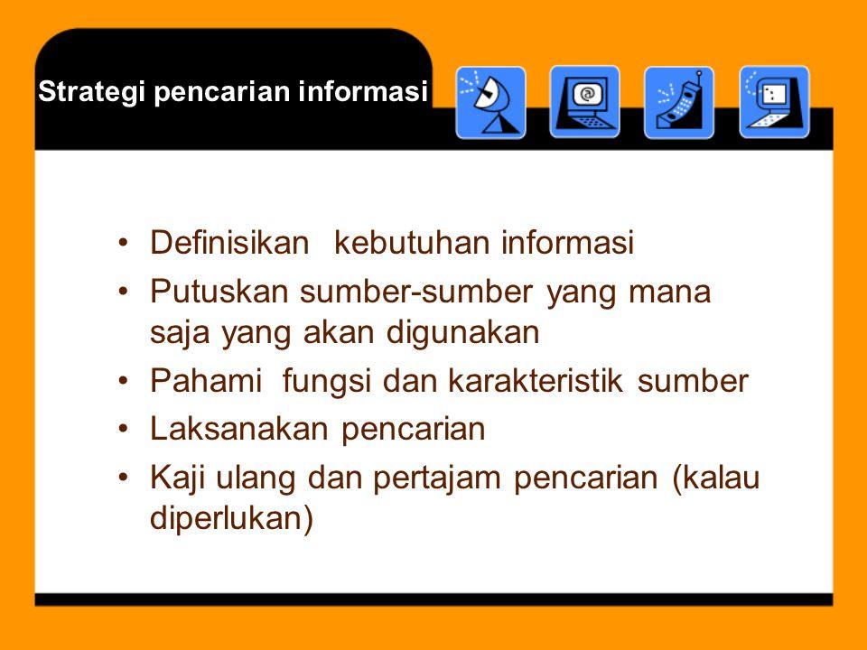 Strategi pencarian informasi