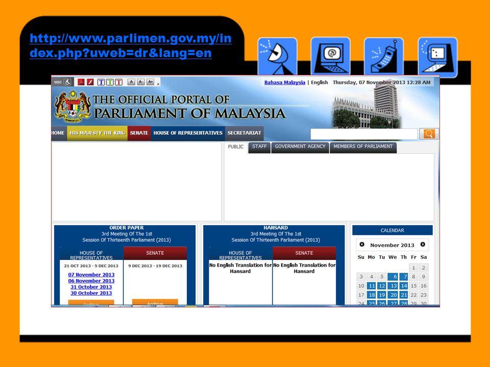 http://www.parlimen.gov.my/index.php uweb=dr&lang=en