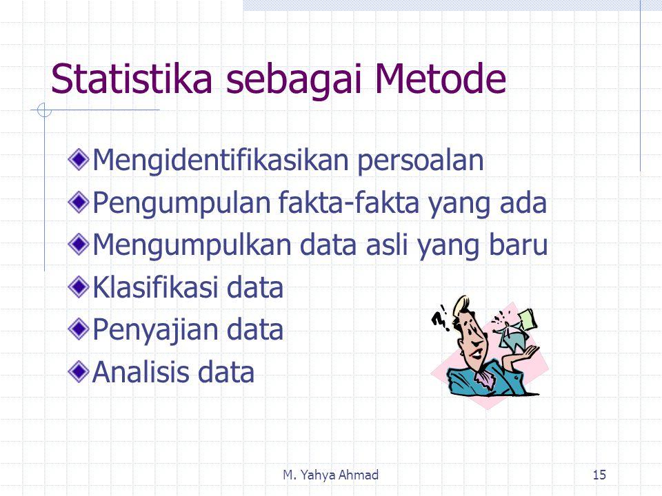 Statistika sebagai Metode