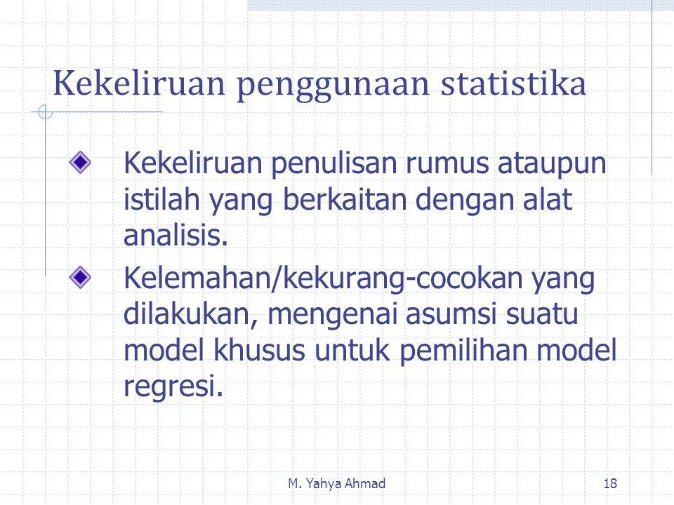 Kekeliruan penggunaan statistika