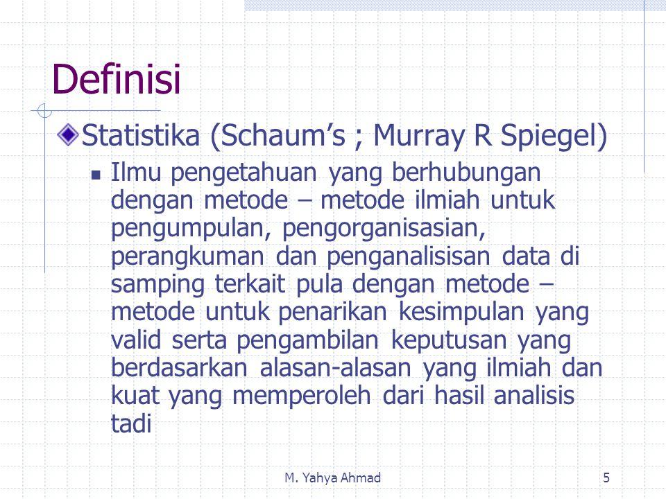 Definisi Statistika (Schaum's ; Murray R Spiegel)