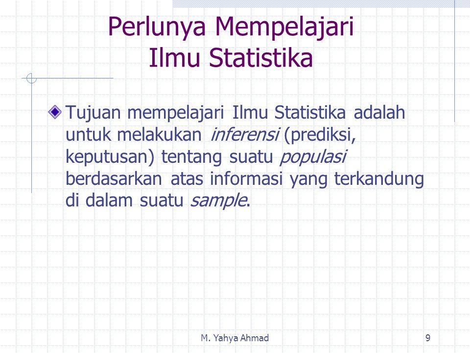Perlunya Mempelajari Ilmu Statistika