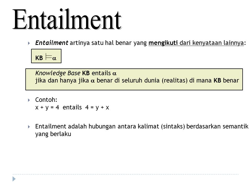 Entailment