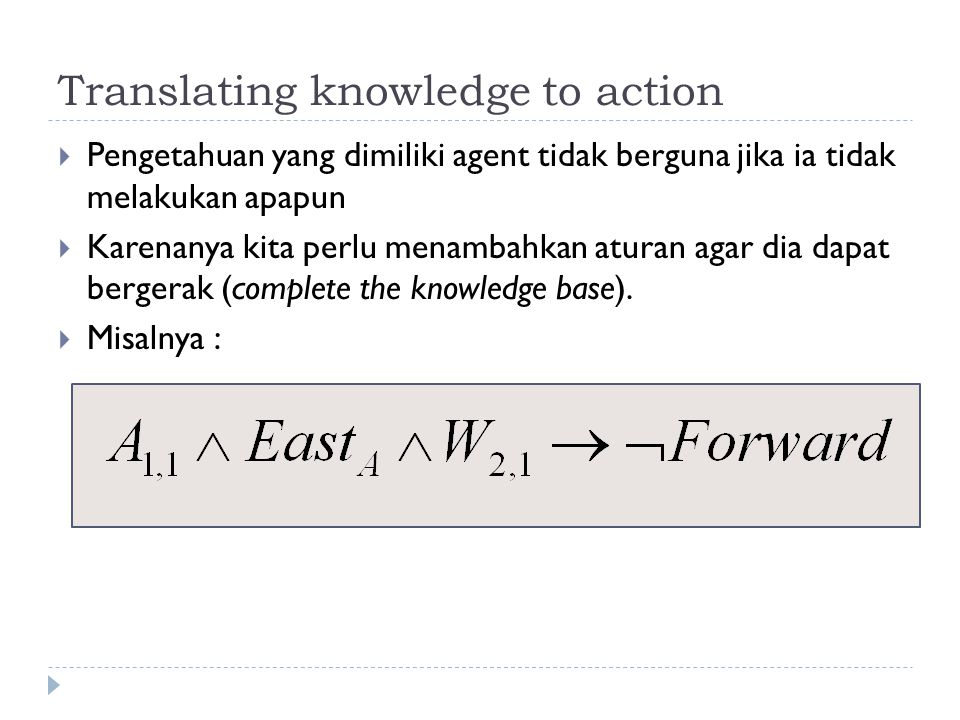 Translating knowledge to action
